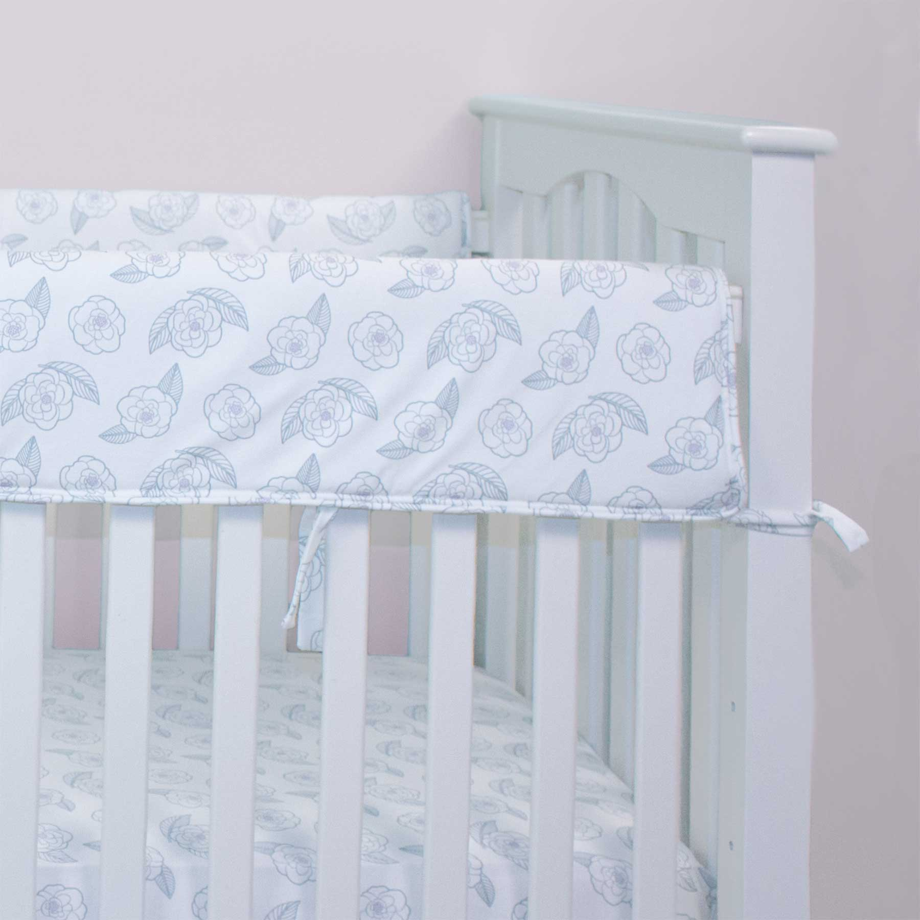 Southern Camellia Crib Rail Guards (Set of 2)