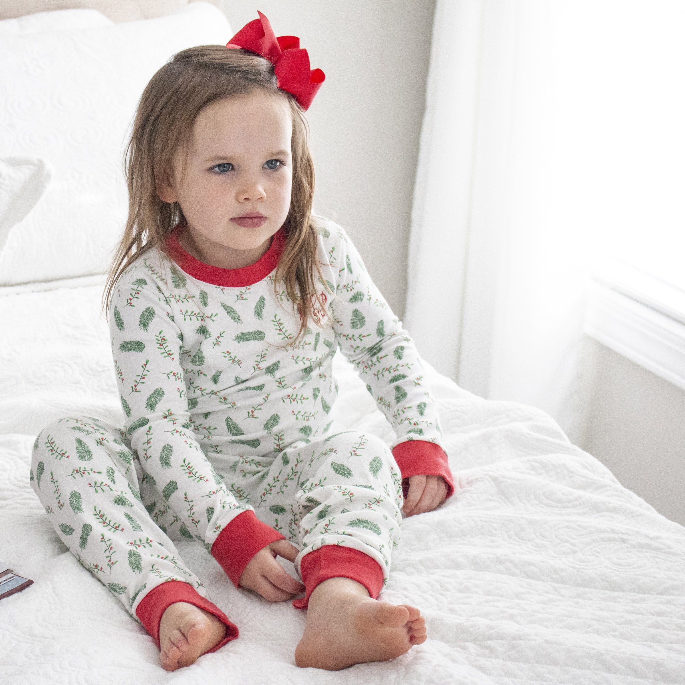 Christmas Holly and Pine 2-Piece Jammie