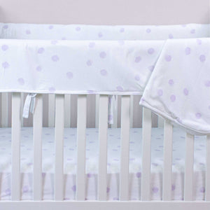 Pink Polka Dot Crib Sheet