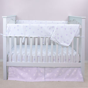 Pink Polka Dot Crib Rail Guards (set of 2)