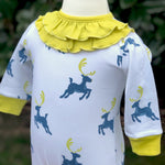 Reindeer Playsuit (Ruffled Collar)