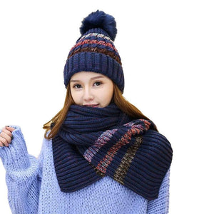 d984e085f24f2 7524 - Pure Cotton Knitted Cap and Scarf - 2 PC Set