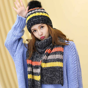 51a8042b2 7524 - Pure Cotton Knitted Cap and Scarf - 2 PC Set