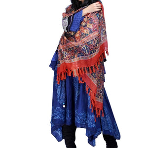 7450 - Bohemian Style Printed Shawl Cover-Up