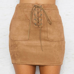 4106 - England Style Empire Mini Skirt