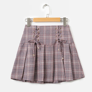 4103 - England Style Plaid Skirt