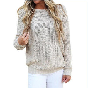 3196 - Low-Cut Knitted Pullover