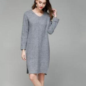 3054 - Knitted Pullover Dress