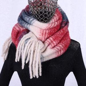 7445 - Plaid Thick Scarf