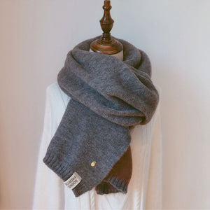 7446 - Thick Warm Knitted Scarf