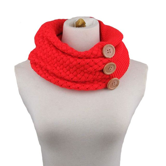 Winter Warm Two Circle Cable Knit Cowl Solid Neck Scarf Brand