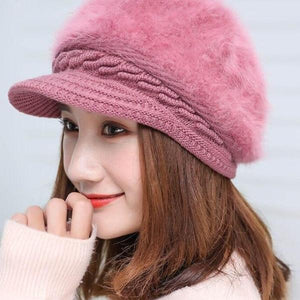 7614 - Rabbit Fur Knitted Hat