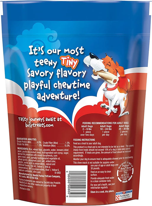 Purina Busy Bone Tiny Dog Treats (2) Pack of Tiny Chewbones (60) Treats Total