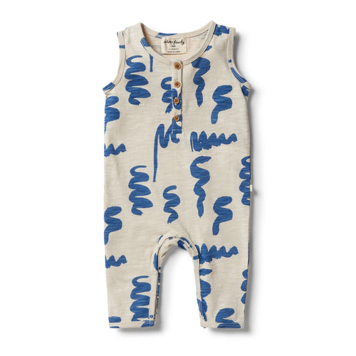 W+F Scribble Growsuit