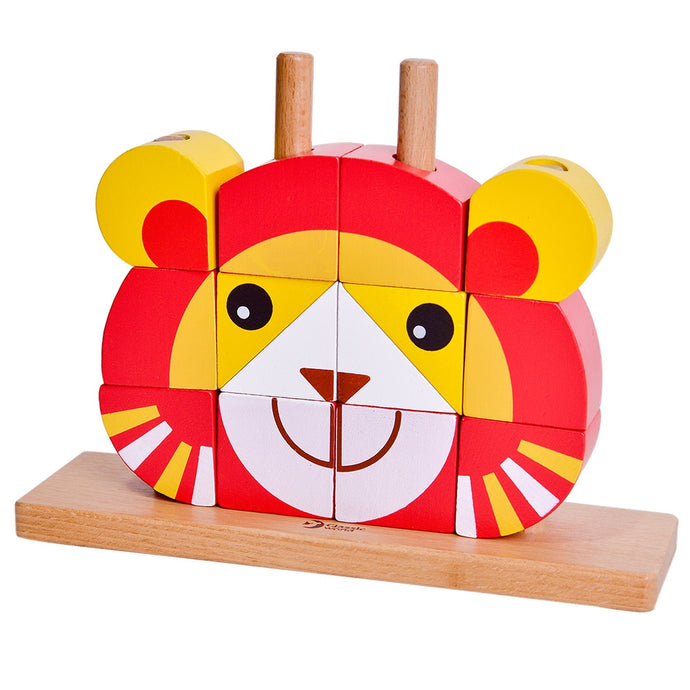 Classic World Lion Uni Blocks - www.bebebits.com.au
