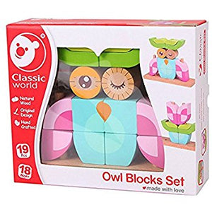 Classic World Owl Blocks Set - www.bebebits.com.au