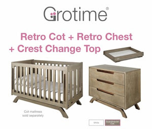 Grotime Retro Cot/Nursery Package - CLICK & COLLECT ONLY - www.bebebits.com.au