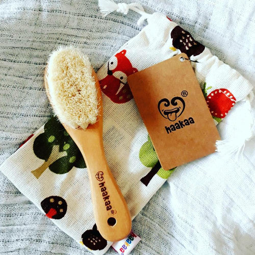 HAAKAA Goats Wool Hair Brush - www.bebebits.com.au