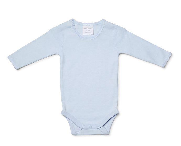 Marquise Long Sleeve Body Suit - lace edging - assorted colours - www.bebebits.com.au