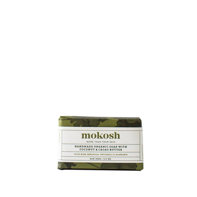 Mokosh Handmade Organic Soap with Rose Geranium|Patchouli|Mandarin - CLICK & COLLECT ONLY - www.bebebits.com.au