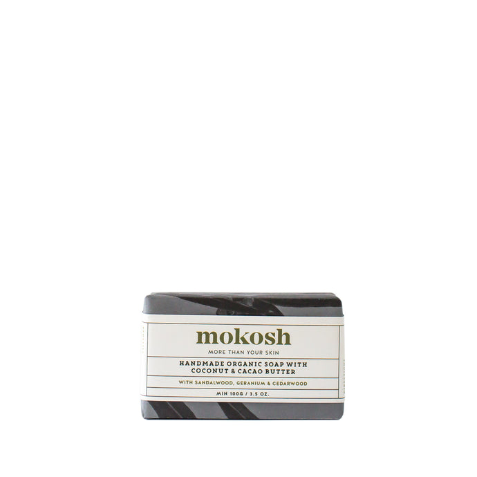 Mokosh Handmade Organic Soap with Sandalwood|Geranium|Cedarwood - CLICK & COLLECT ONLY - www.bebebits.com.au