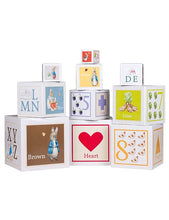 Load image into Gallery viewer, Beatrix Potter Peter Rabbit Stackable Learning Blocks - www.bebebits.com.au