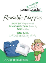 Load image into Gallery viewer, Pea Pods Reusable Nappies - www.bebebits.com.au