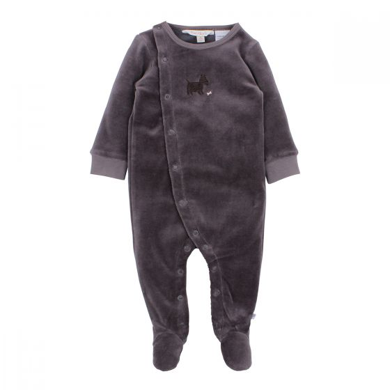 Fox & Finch Watch Dog Velour Romper