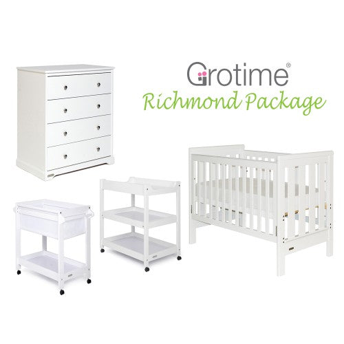 Grotime Richmond Cot/Nursery Package - CLICK & COLLECT ONLY - www.bebebits.com.au