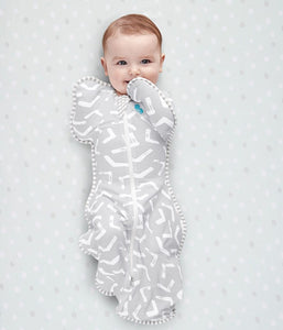 SWADDLE UP™ Bamboo Lite 0.2 TOG Grey - www.bebebits.com.au