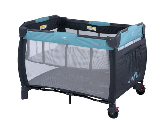 Steelcraft Siesta 2-in-1 Portacot - CLICK & COLLECT ONLY - www.bebebits.com.au