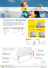 Load image into Gallery viewer, Vee Bee Fold Down Bed Guard