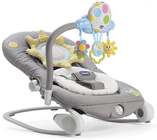 Chicco Balloon Musical Rocker - Dark Grey - CLICK & COLLECT ONLY - www.bebebits.com.au