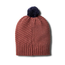 Load image into Gallery viewer, W+F Chilli Marle Knitted Chevron Hat - www.bebebits.com.au