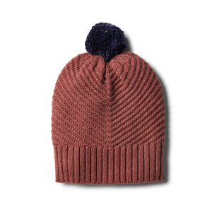 W+F Chilli Marle Knitted Chevron Hat - www.bebebits.com.au
