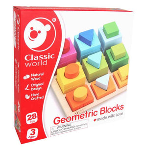 Classic World Geometric Blocks - www.bebebits.com.au