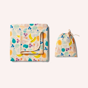 W+F Organic Cot Sheet Set - Fruit Loop