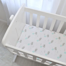 Load image into Gallery viewer, Living Textiles 2 Pack Cotton Jersey Bassinet Fitted Sheet - Dream Big/Aqua Stripe - www.bebebits.com.au