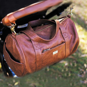 Isoki Kingston Duffle Bag - redwood - www.bebebits.com.au