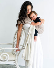 Load image into Gallery viewer, hug-a-bub® Organic Reversible Ring Sling - SAND/STONE - www.bebebits.com.au
