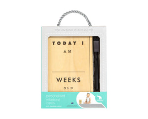 All 4 Ella - Personalised Milestone Cards - Timber