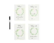 Load image into Gallery viewer, All 4 Ella - Personalised Milestone Cards - White