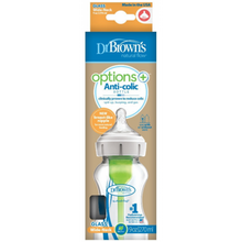 Load image into Gallery viewer, Dr. Brown's™ Options+™ GLASS Wide-Neck Baby Bottle - assorted sizes