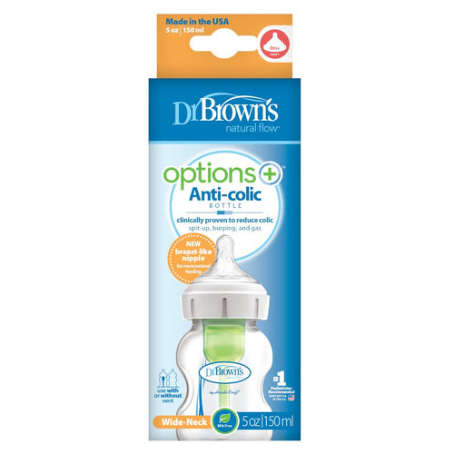 Dr Brown's Wide Neck Options+ Bottles - assorted sizes