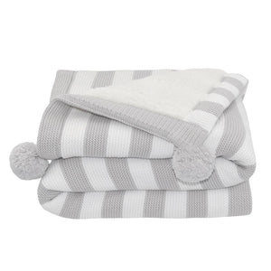 Living Textiles Luxe Pompom Sherpa Blanket - assorted colours