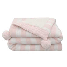 Load image into Gallery viewer, Living Textiles Luxe Pompom Sherpa Blanket - assorted colours