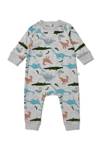 Marquise French Terry Footless Romper - Dinosaurs