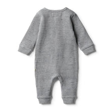 Load image into Gallery viewer, W+F Waffle Zipsuit - Cloud Grey