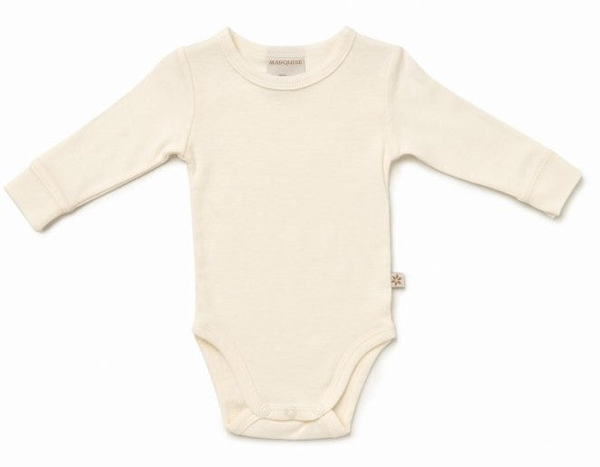 Marquise Cotton/Wool Long Sleeve Bodysuit - www.bebebits.com.au