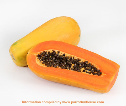 Safe fruits for birds papaya